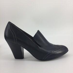 Sofft Black Leather Heels 10 Wingtip Menswear Shoe